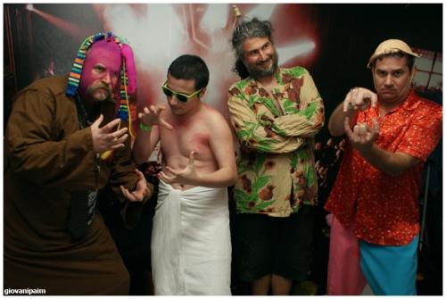 Foto da nova formação da banda Repolho.