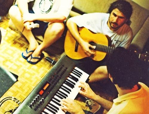 """Estúdio Dreher - Gravação da música """"Não Fui Eu"""" Roberto - Demétrio e Jupiter"""